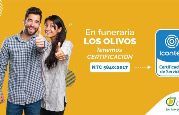 Estamos certificados por el INCONTEC