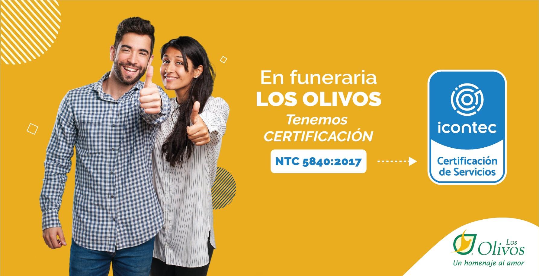 Estamos certificados por el ICONTEC